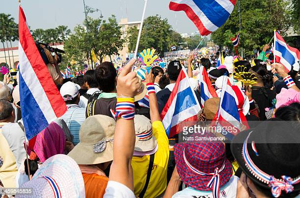 CONTENT] At least 2 millions people went out to all street in greater Bangkok to protest the current government as they believe that the former prime...