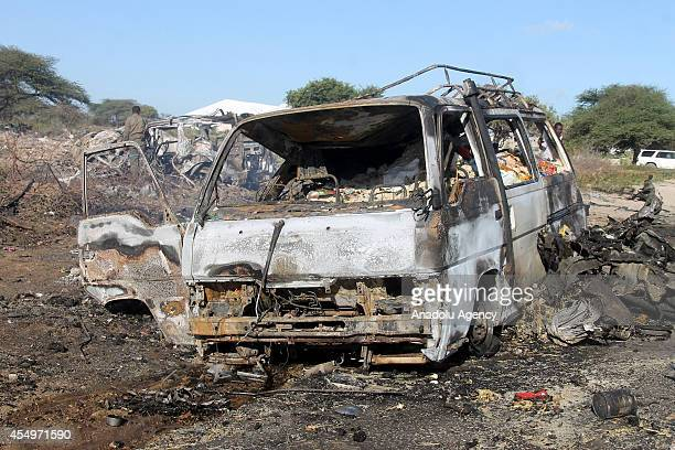 At least 25 killed and 30 wounded in a suicide bombing that targeted African peacekeepers in Somali capital Mogadishu on September 8, 2014. A car...