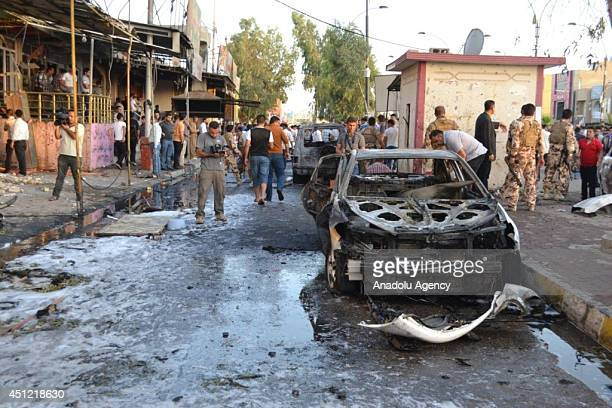 At least 4 people are killed and 15 others get wounded in a bomb attack staged by a suicide bomber at a checkpoint outside the Kurdistan Democratic...