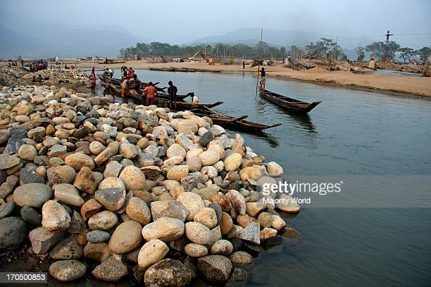 At least 9000 people including 3000 women and 1000 children work as stone laborer on the bank of the Dholai river in Bholaganj Sylhet Millions of...
