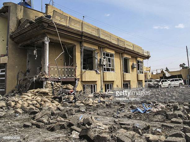 At least seven people have been killed and 21 others wounded when a car bomb exploded in southern Afghanistan on March 18 2015 The attack targeted an...