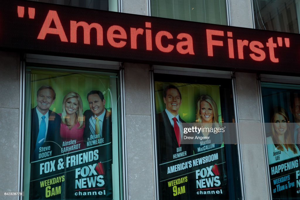 """Donald Trump Names """"Fox And Friends"""" As One Of His Favorite Broadcasts : News Photo"""