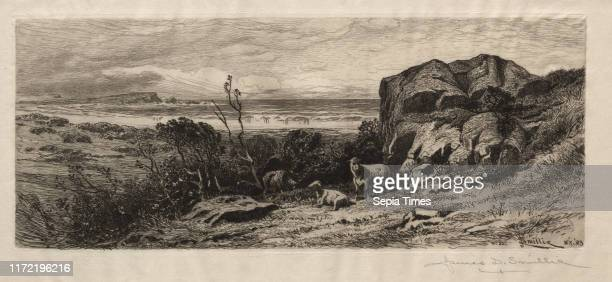 At Marblehead Neck 1883 James David Smillie Etching