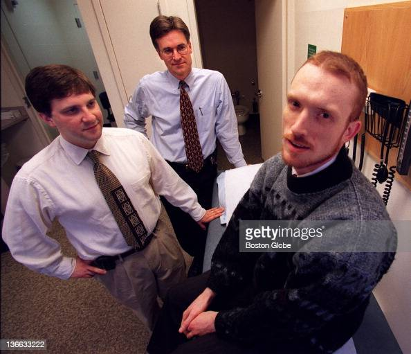 At MGH, AIDS patient John Ceravsky, front, is being treated