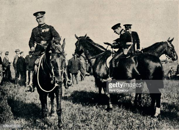 At Military Manoeuvres' circa 1916 British politician and statesman Sir Winston Churchill as a major with General John French during the First World...