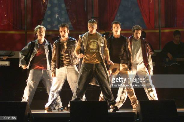 NSYNC at MTV Movie Awards 2000 at Sony Pictures Studio in Culver City CA on June 03 2000