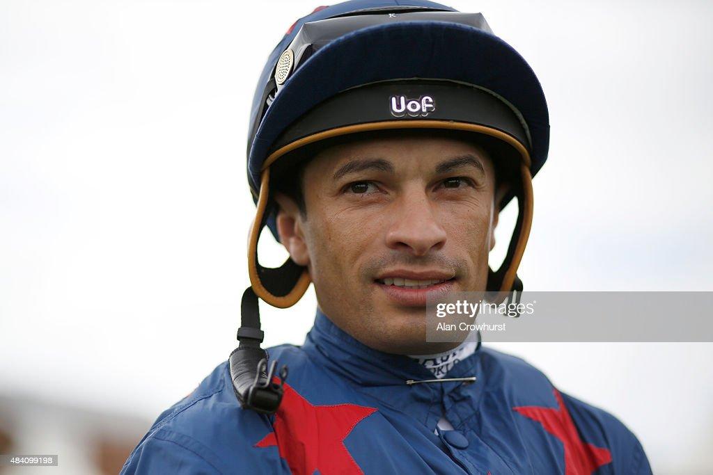 at Newbury racecourse on August 15, 2015 in Newbury, England.