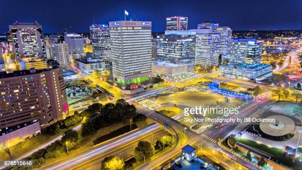 rva at night - richmond virginia stock pictures, royalty-free photos & images