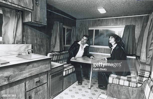 At Normal Trailersize this recreational vehicle is occupied by Norman Leclerc sales manager of the Quebec Bonair manufacturer and Brigitte Krause a...