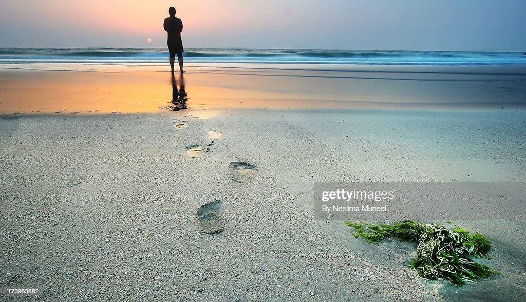 At One With The Sea : Stock Photo