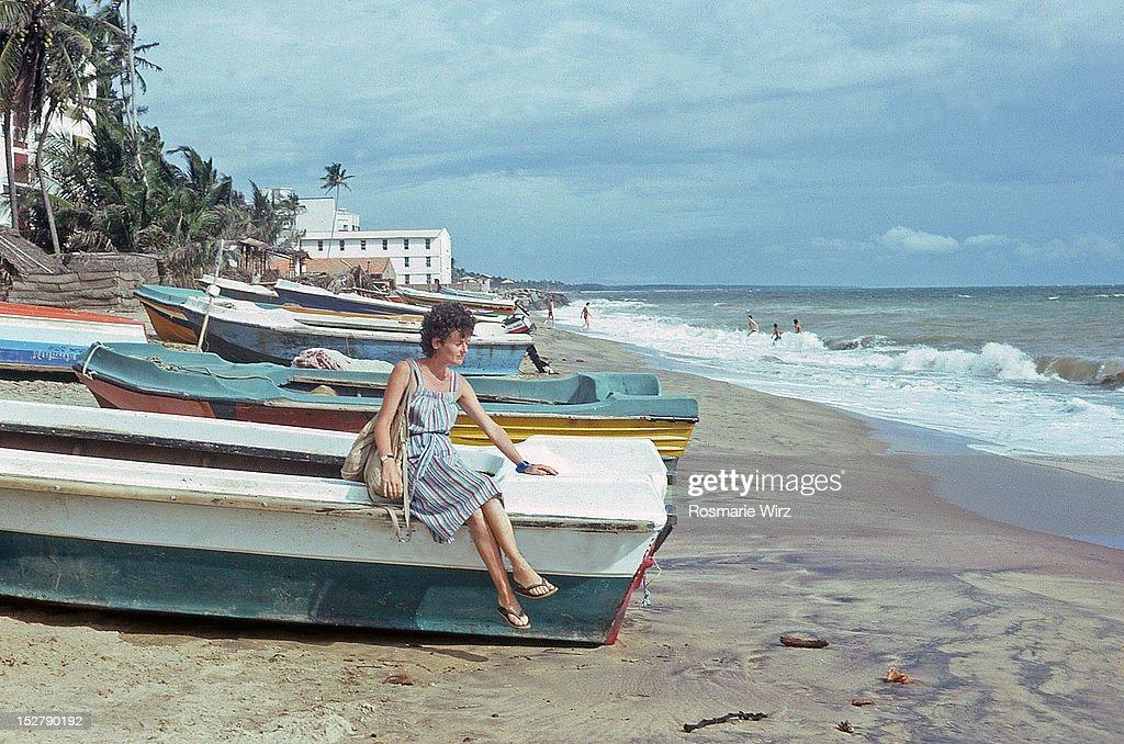 At Pamunugama beach : Stock Photo
