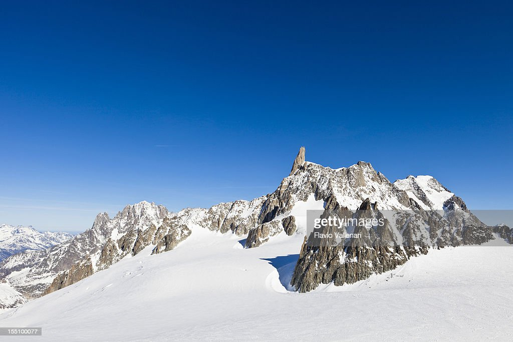At Pointe Helbronner, Mont Blanc Massif : Stock Photo