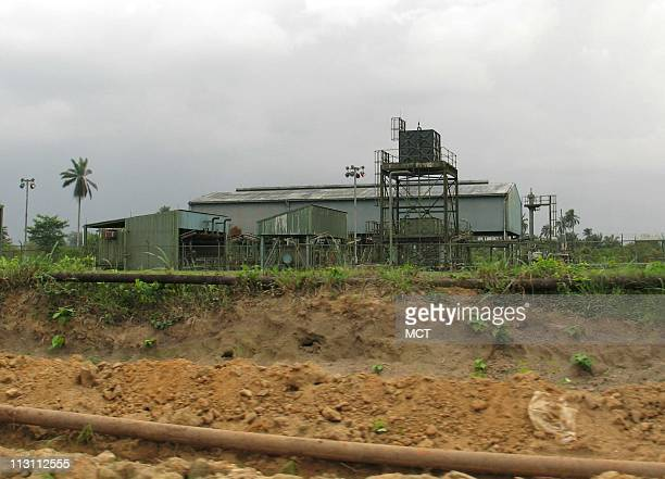 At Royal Dutch Shell's Egbeda fuel station north of Port Harcourt Nigeria natural gas is separated from valuable crude oil which accounts for 95...