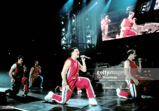 N'SYNC at Shoreline Amphitheater in Mountain View Calif on July 21st 1999 Image By Tim Mosenfelder/ImageDirect