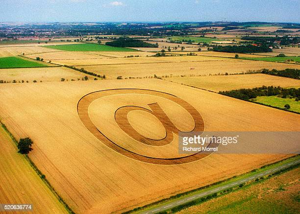 at sign in field - crop circle stock pictures, royalty-free photos & images