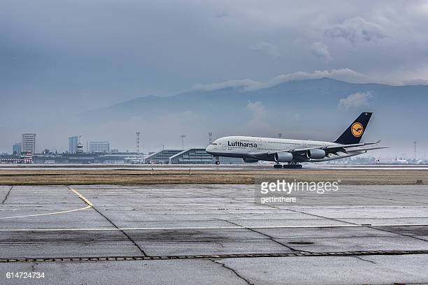 A380 at Sofia International