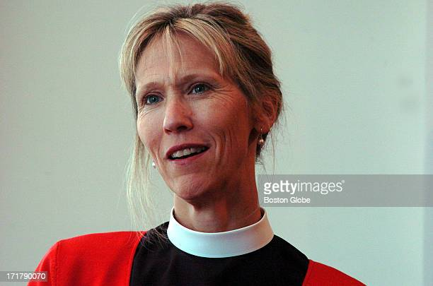 At St Anne's In The Fields Episcopal Church the Reverend Cathy H George poses for a portrait after giving her opinions on gay marriage in the church