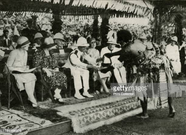 At Suva Fiji Presenting a Tabua as a Symbol of Homage and Affection 1927' 1937 His Royal Highness The Duke of York 19201936 became King George VI on...