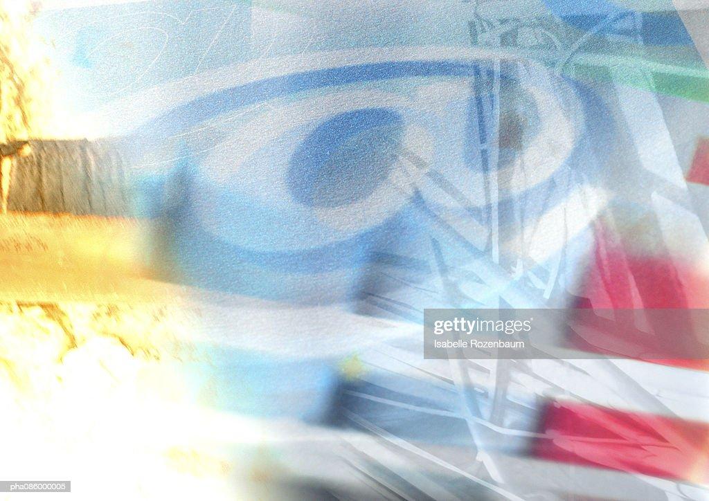 At symbol montage : Stockfoto