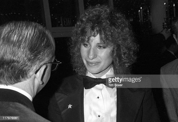 At Tavern on the Green American singer and actress Barbra Streisand attends a release party for his film 'A Star Is Born' New York New York December...