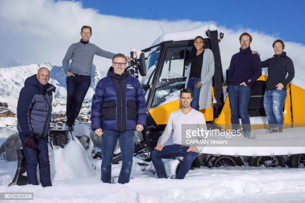 at the 16th edition Les Etoiles du Sport Guy Forget Edgar Grospiron Laurent Blanc Tony Estanguet MarieJose Perec Thomas Coville and Carole Montillet...