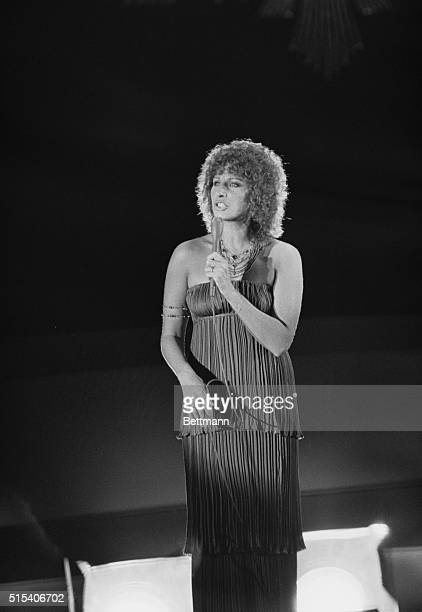 At the 1977 Academy Awards in Hollywood singer Barbra Streisand sings the Oscarwinning song Evergreen