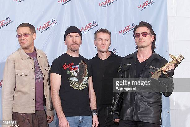 U2 at the 2001 MTV Video Music Awards held at the Metropolitan Opera House at Lincoln Center in New York City 9/6/01 Photo by Evan...