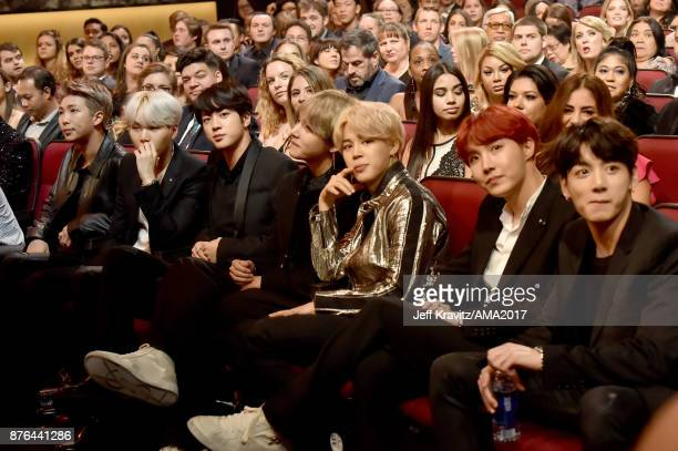 BTS at the 2017 American Music Awards at Microsoft Theater on November 19 2017 in Los Angeles California