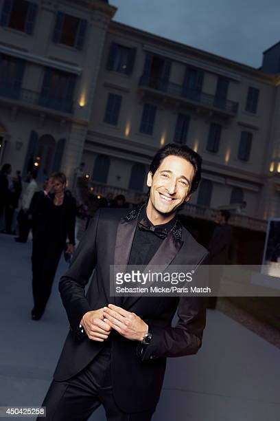 at the 21th Gala of AmFar Cinema Aganist AIDS Adrien Brody is photographed for Paris Match in Cap d'Antibes at the Hotel CapEdenRoc on May 22 2014