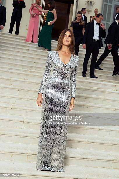 at the 21th Gala of AmFar Cinema Aganist AIDS Carine Roitfeld is photographed for Paris Match in Cap d'Antibes at the Hotel CapEdenRoc on May 22 2014