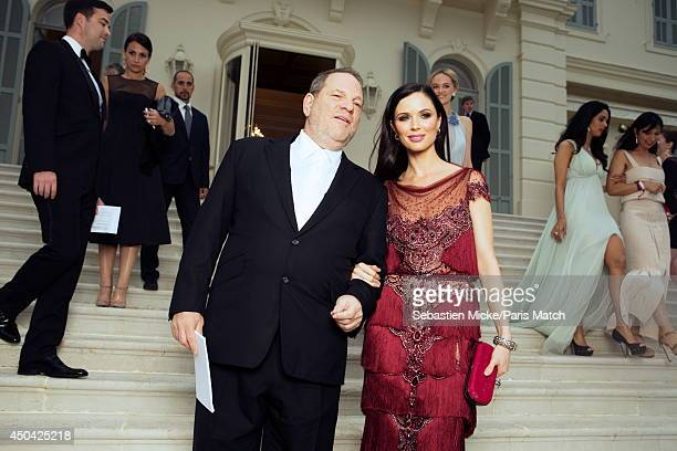 at the 21th Gala of AmFar Cinema Aganist AIDS Harvey Weinstein and his wife Georgina Chapman are photographed for Paris Match in Cap d'Antibes at the...
