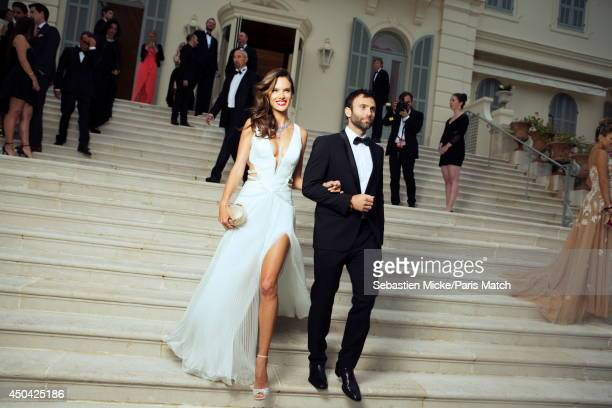 at the 21th Gala of AmFar Cinema Aganist AIDS the brazilian model Alessandra Ambrosio is photographed for Paris Match in Cap d'Antibes at the Hotel...
