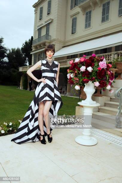 at the 21th Gala of AmFar Cinema Aganist AIDS the canadian model Coco Rocha is photographed for Paris Match in Cap d'Antibes at the Hotel CapEdenRoc...