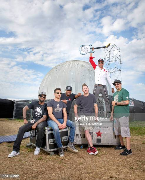 at the 2nd Download Festival Paris 2017 The american group Prophets of Rage with Tom Morello Tim Commerford and Bad Wilk of the group Rage Against...