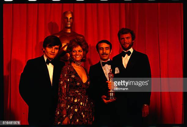 """At the 42nd annual Academy Awards ceremonies, the Algerian-made film """"Z"""" won the Oscar for """"Best Foreign Film."""" Shown during the presentation are:..."""