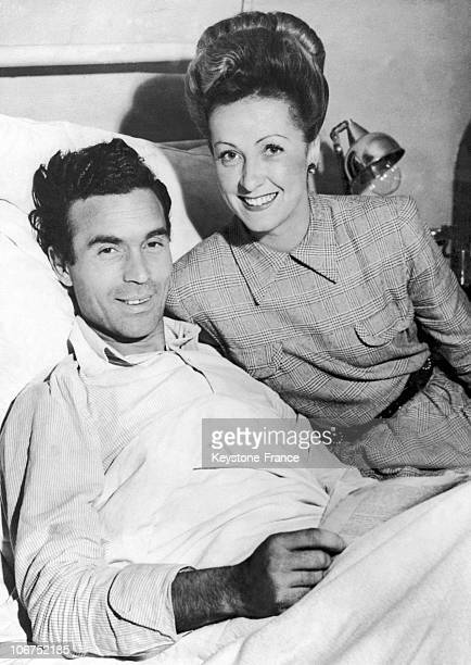 At The Ambroise Pare Hospital In 1942 The Actress At His Wounded Husband'S Bedside While He Drove Down The Boulevard Malesherbes Some Shots Were...