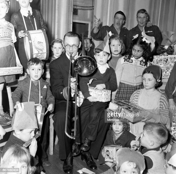 At the American embassy Grosvenor Square the US Navy throws a party for nearly 100 under privileged children who have been selection by the Salvation...