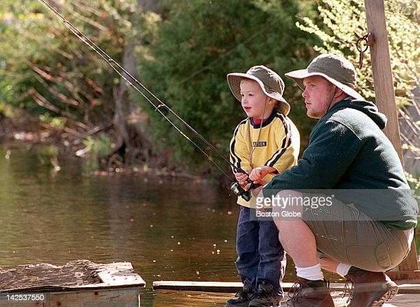 At the annual kids' fishing derby at Skeeter Mill Pond, hosted on the property of State Rep. David Flynn, with assistance from Bridgewater Lions...