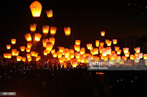 At the annual Pingshi Lantern Festival thousands of lanterns are released to the sky A long time ago people hid in the mountains to protect...