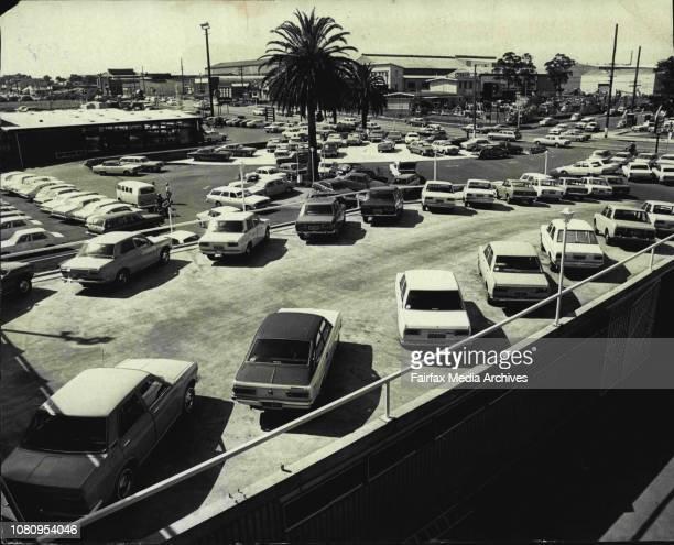 At the Arnold Glass Datsun Car Dealer in AuburnGeneral view of the Car Yard looking towards Parramatta Rd December 27 1972