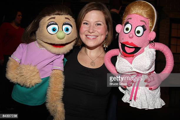 at the Avenue Q on Broadway's replacement of the For Now George Bush lyric contest at the Golden Theatre on January 16 2009 in New York City