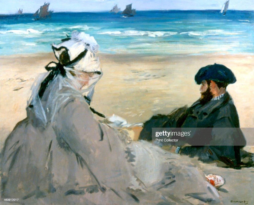 'At the Beach', 1873. Artist: Edouard Manet : News Photo