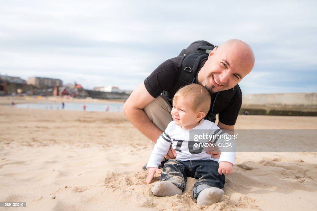 At the beach : Stock Photo