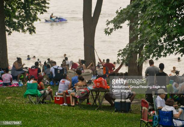 At the Blue Marsh Lake Dry Brooks Day Use Area in Bern Township for the 4th of July Saturday afternoon July 4 2020 The facility was operating at 75%...