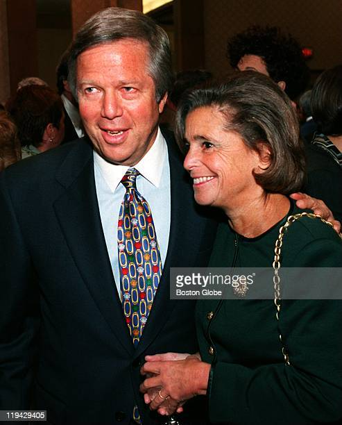 At the Boston Boys and Girls Club dinner Patriots Owner Bob Kraft and his wife Myra of Chestnut Hill Myra is chairwoman of the board