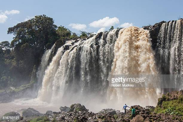 At the bottom of the Blue Nile Falls