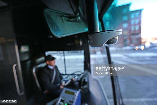 At the Broadway bus stop T bus driver Abdenour Elmahil waits for passengers The MBTA is expanding its use of camera on buses hoping to install up to...