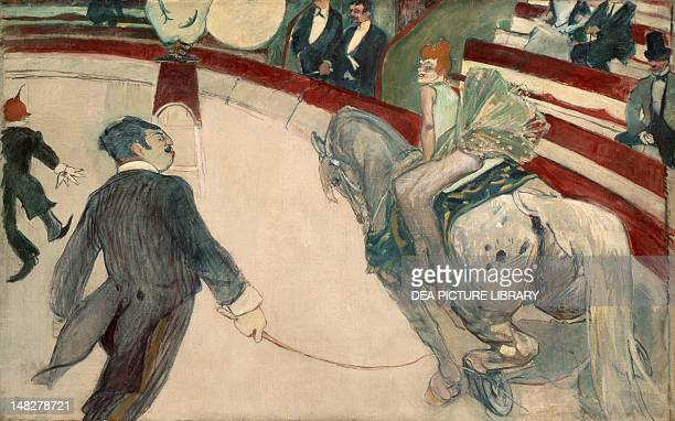 At the Cirque Fernando the ringmaster by Henri de Toulouse Lautrec 1003x1613 cm Chicago Art Institute Of Chicago
