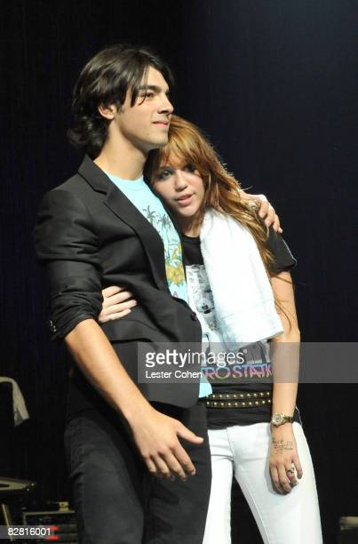 UNIVERSAL CITY CA SEPTEMBER 14 at the City of Hope Benefit Concert with Miley Cyrus Jonas Brothers at the Gibson Amphitheater Universal City Walk on...