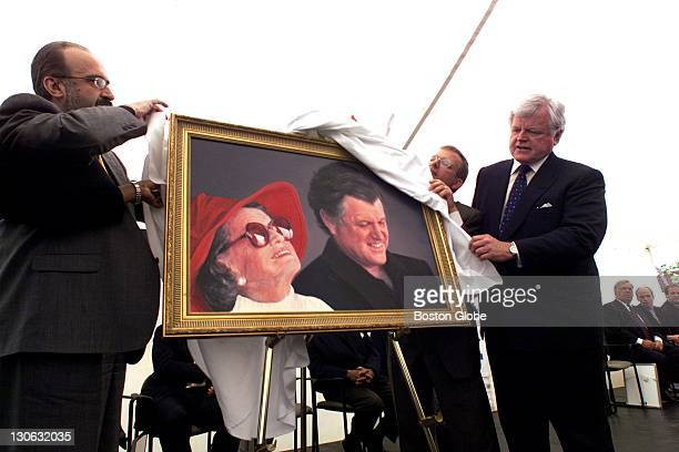 At the Codman Square Health Center, the dedication of the Rose Kennedy pediatric wing. A portrait of Rose Fitzgerald Kennedy and her son, Sen. Ted...